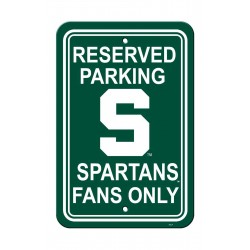 Michigan State Spartans 12-inch by 18-inch Parking Sign