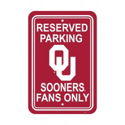 Oklahoma Sooners 12-inch by 18-inch Parking Sign