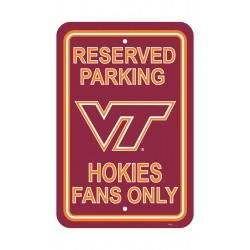 Virginia Tech Hokies 12-inch by 18-inch Parking Sign