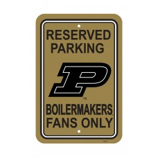 Purdue Boilermakers 12-inch by 18-inch Parking Sign