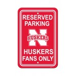 Nebraska Huskers 12-inch by 18-inch Parking Sign