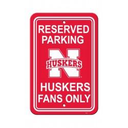Nebraska Huskers 12-inch by 18-inch Parking Sign