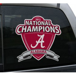 Alabama Crimson Tide 2012 Championship 12-inch Die Cut Window Film