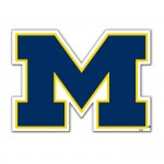 Michigan Wolverines 12-inch Vinyl Magnet