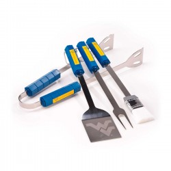 West Virginia Mountaineers 4 Piece BBQ Set