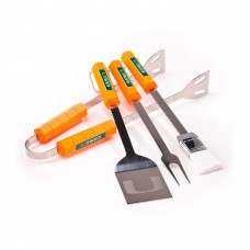 Miami Hurricanes 4 Piece BBQ Set