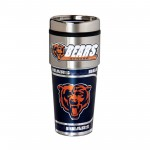 Chicago Bears Travel Mug 16oz Tumbler with Logo