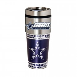 Dallas Cowboys Travel Mug 16oz Tumbler with Logo
