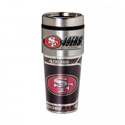 San Francisco 49ers Travel Mug 16oz Tumbler with Logo