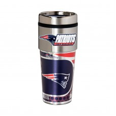 New England Patriots Travel Mug 16oz Tumbler with Logo