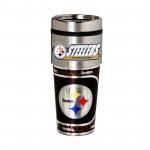 Pittsburgh Steelers Travel Mug 16oz Tumbler with Logo