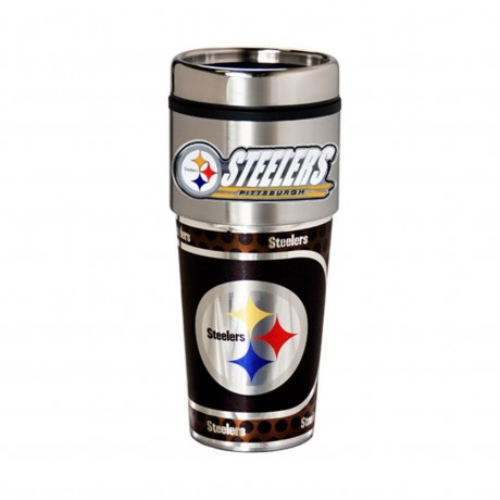 Pittsburgh Steelers Travel Mug 16oz Tumbler with Logo