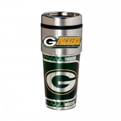 Green Bay Packers Travel Mug 16oz Tumbler with Logo