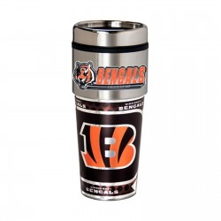 Cincinnati Bengals Travel Mug 16oz Tumbler with Logo