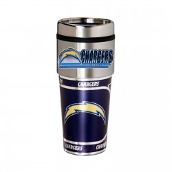 San Diego Chargers Travel Mug 16oz Tumbler with Logo