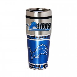 Detroit Lions Travel Mug 16oz Tumbler with Logo