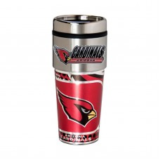 Arizona Cardinals Travel Mug 16oz Tumbler with Logo