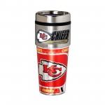 Kansas City Chiefs Travel Mug 16oz Tumbler with Logo
