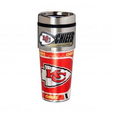 Kansas City Chiefs Travel Mug 16oz Tumbler with Logo
