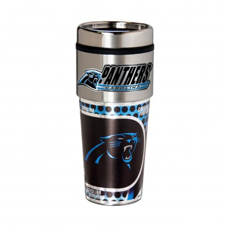 Carolina Panthers Travel Mug 16oz Tumbler with Logo