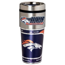 Denver Broncos Travel Mug 16oz Tumbler with Logo