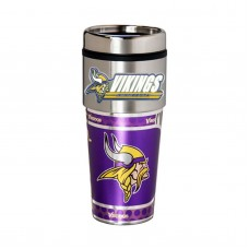 Minnesota Vikings Travel Mug 16oz Tumbler with Logo
