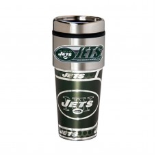 New York Jets Travel Mug 16oz Tumbler with Logo