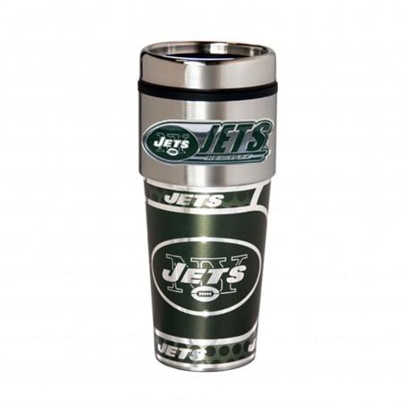 New York Jets Travel Mug 16oz Tumbler with Logo