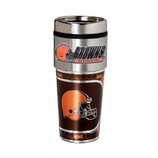 Cleveland Browns Travel Mug 16oz Tumbler with Logo