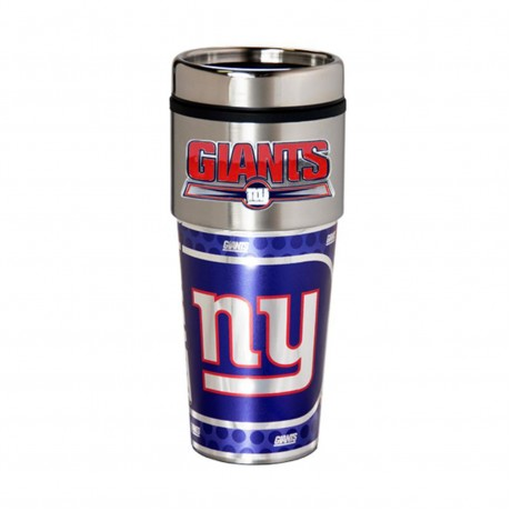 New York Giants Travel Mug 16oz Tumbler with Logo