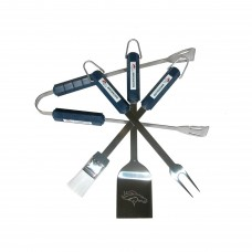 Denver Broncos 4 Piece BBQ Set