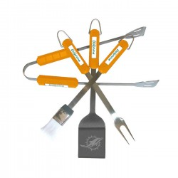 Miami Dolphins 4 Piece BBQ Set