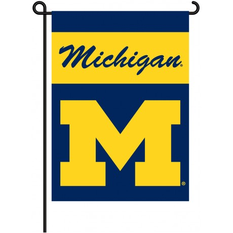 Michigan Wolverines Garden Banner Flag