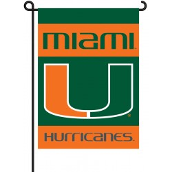Miami Hurricanes Garden Banner Flag