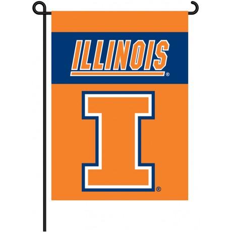 Illinois Fighting Illini Garden Banner Flag