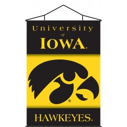 Iowa Hawkeyes Indoor Scroll Banner