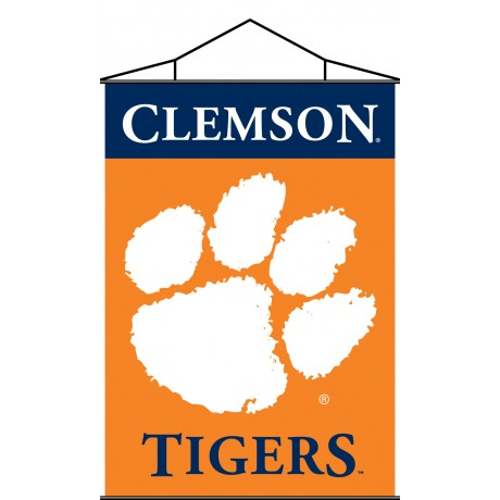 Clemson Tigers Indoor Scroll Banner
