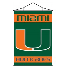 Miami Hurricanes Indoor Scroll Banner