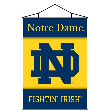 Notre Dame Fighting Irish Indoor Scroll Banner