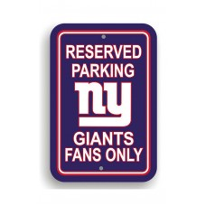 New York Giants 12-inch by 18-inch Parking Sign