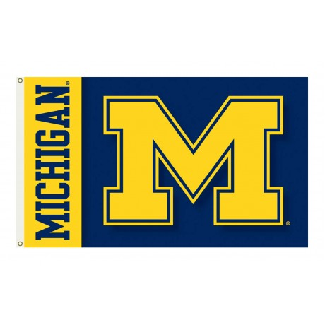 Michigan Wolverines Double Sided 3'x 5' College Flag