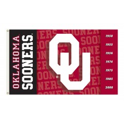 Oklahoma Sooners Double Sided 3'x 5' College Flag