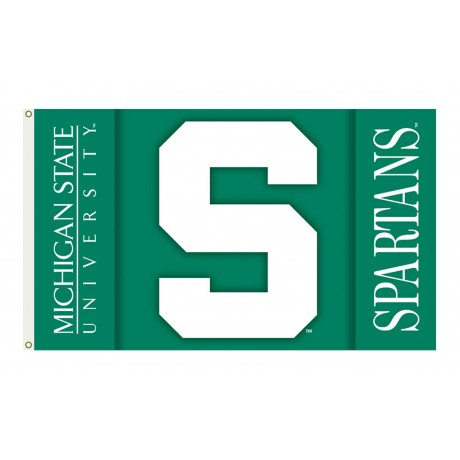 Michigan State Spartans Double Sided 3'x 5' College Flag