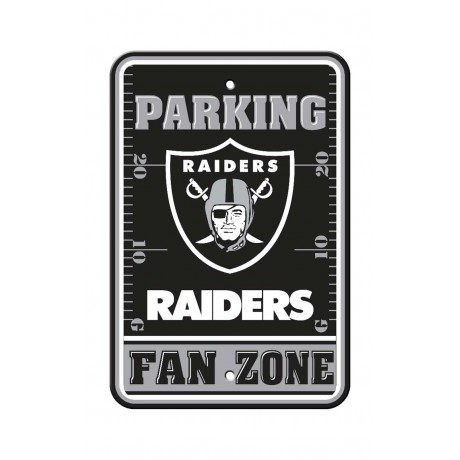 Oakland Raiders 12-inch by 18-inch Parking Sign