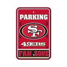 San Francisco 49ers 12-inch by 18-inch Parking Sign