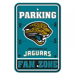 Jacksonville Jaguars 12-inch by 18-inch Parking Sign