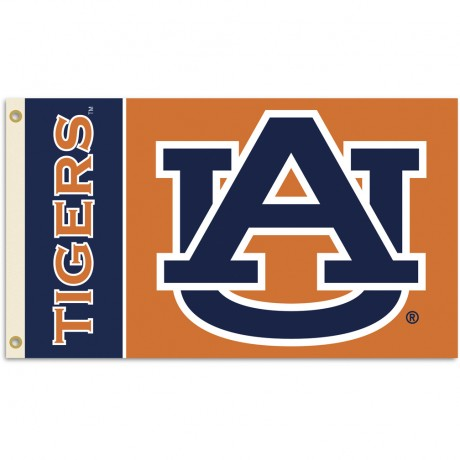 Auburn Tigers Double Sided 3'x 5' College Flag