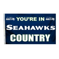 Seattle Your In Seahawks Country 3'x 5' NFL Flag