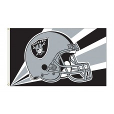 Oakland Raiders Helmet 3'x 5' NFL Flag