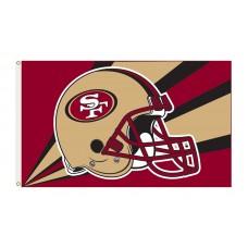 San Francisco 49ers Helmet 3'x 5' NFL Flag